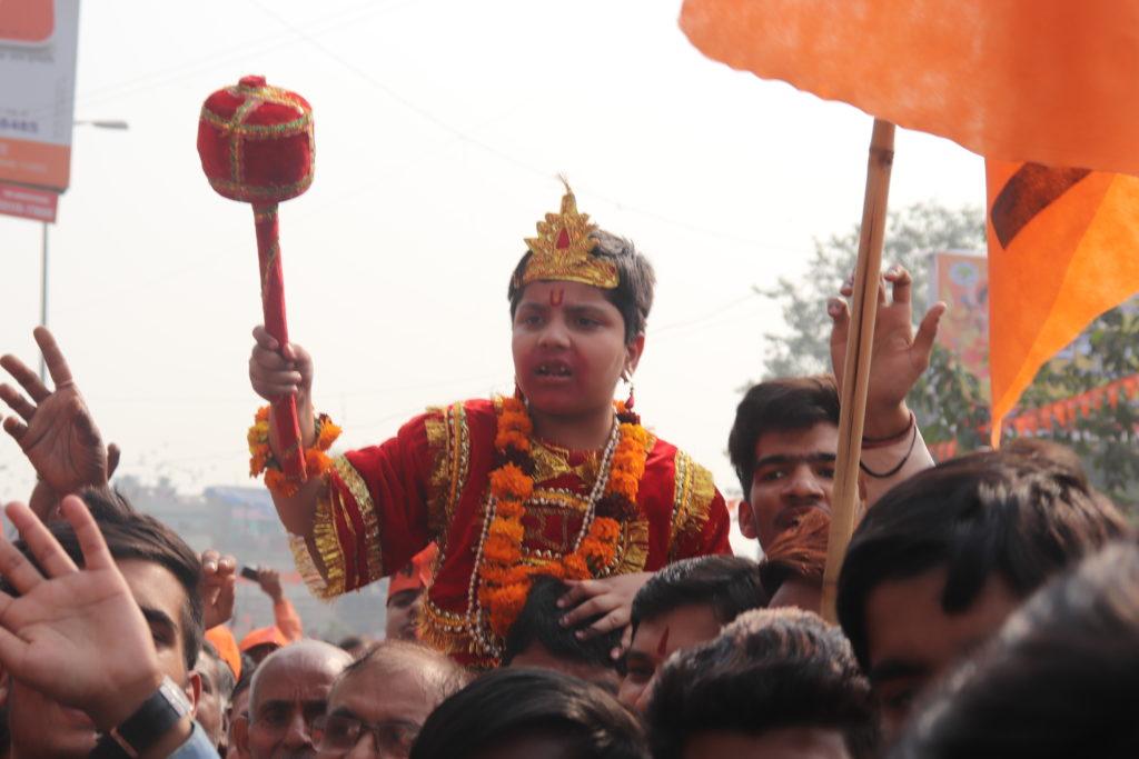 ये हैं रामभक्त हनुमान...रामलीला की धर्मसभा में गूंजा मंदिर वहीं बनाएंगे